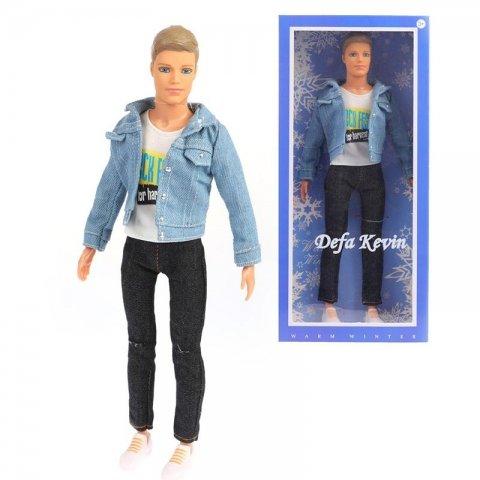 عروسک باربی مرد kevin با لباس جین مدل دفا کد 8427