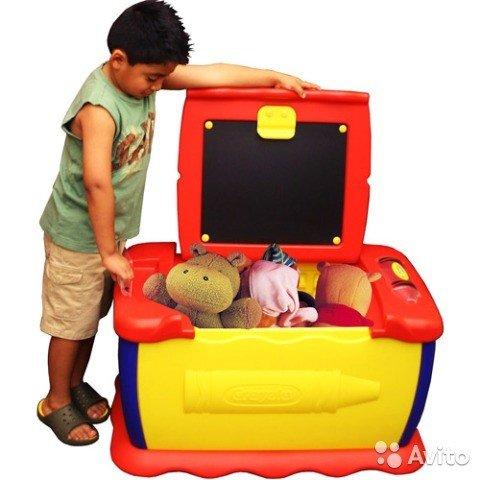 باکس بزرگ اسباب بازی با تخته سیاه مدل 5019