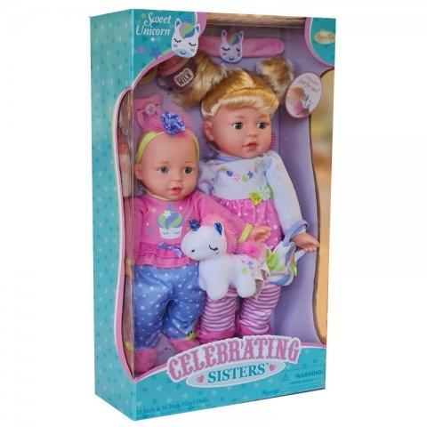 عروسک دخترانه 2 عددی خواهر کد 12020QH