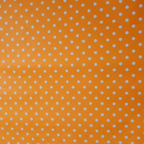 کاغذ کادو یک رو خال خالی(نارنجی)