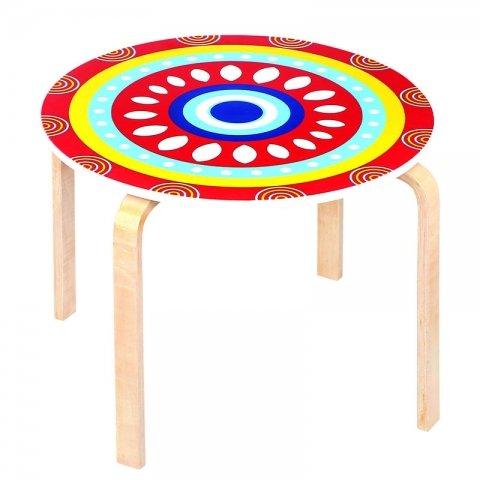 میز کودک چوبی طرحدار کد SD-03-A