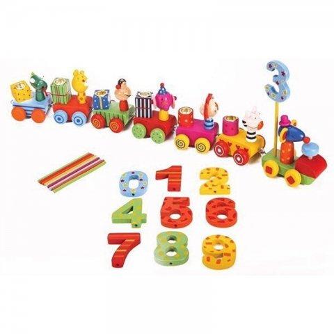اسباب بازی چوبی قطار تولد با اعداد کد BZ-29-D