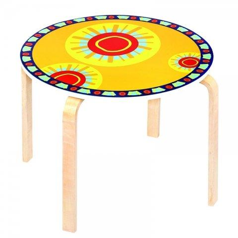 میز کودک چوبی زرد کد SD-03-C