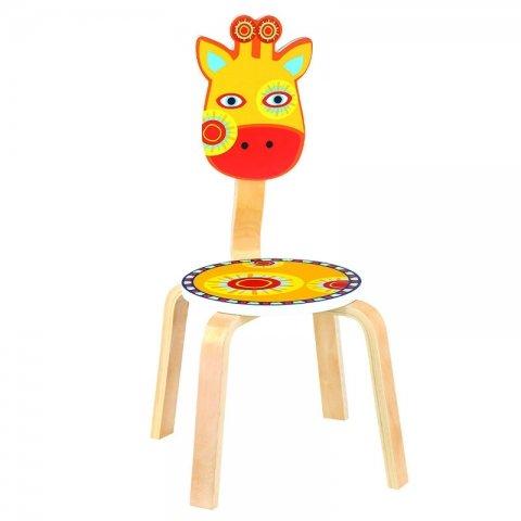 صندلی کودک چوبی مدل زرافه کد SD-02-C