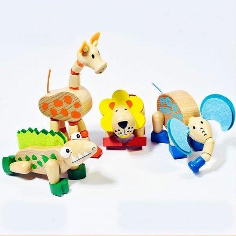 اسباب بازی حیوانات چوبی بزرگ کد BZ-10