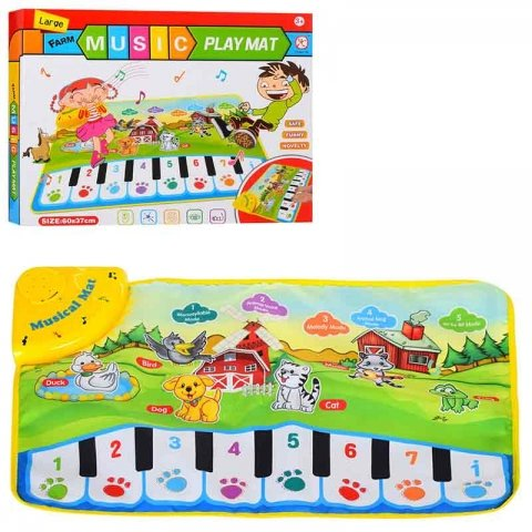 تشک بازی موزیکال مدل پیانو پارچه ای کد LT3902