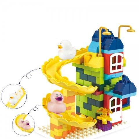 لگو خانه سرسره ای با فیگور اردک 134 تکه اسمونو smoneo کد 99007