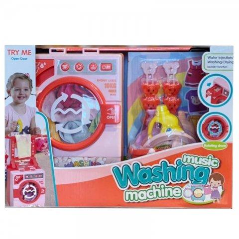 ماشین لباسشویی اسباب بازی رنگ صورتی مدل 35883S
