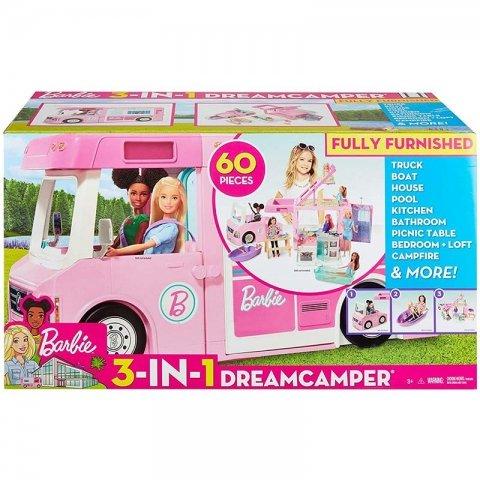 ماشین و وسایل کمپ باربی Dreamcamper کد GHL93-9C56