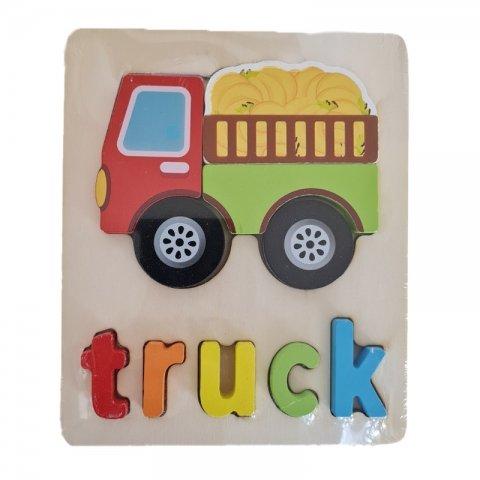 پازل چوبی جاگذاری آموزشی طرح کامیون کد 3828A