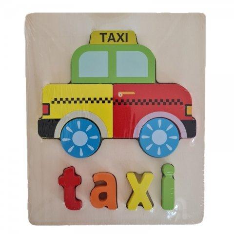 پازل چوبی جاگذاری آموزشی طرح تاکسی کد 3828A