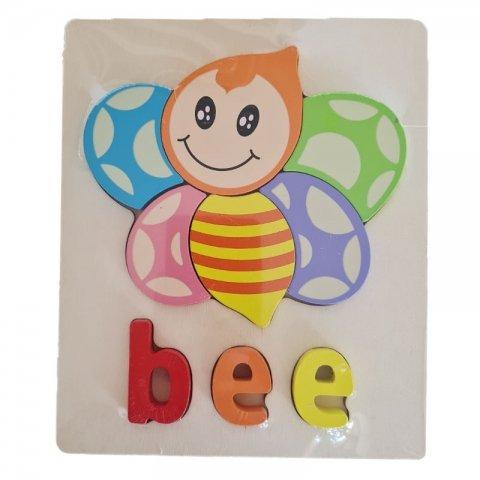 پازل چوبی جاگذاری آموزشی طرح زنبور کد 3828A