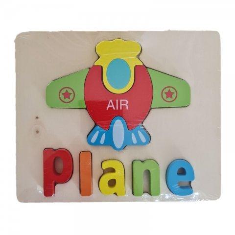 پازل چوبی جاگذاری آموزشی طرح هواپیما کد 3828A