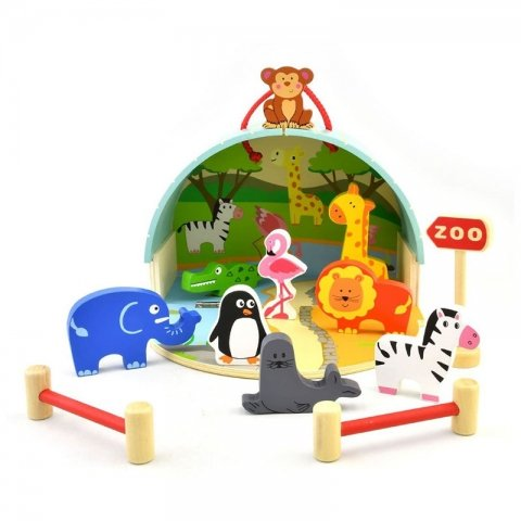 اسباب بازی چوبی باغ وحش 13 تکه پیکاردو کد BZ-23-D