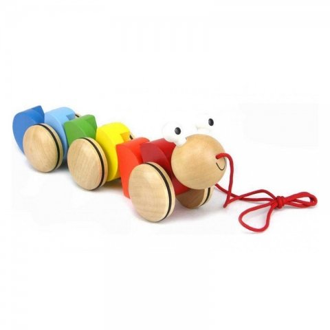 اسباب بازی چوبی کرم چرخ دار کد BZ-29-G