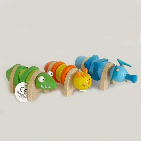 اسباب بازی چوبی حیوانات پیچ و مهره ای پیکاردو کد BZ-15-D