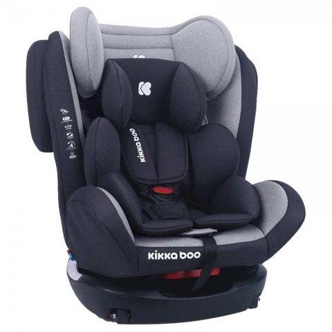 صندلی ماشین کودک  KIKKA BOO مدل 4fix رنگ طوسی مشکی