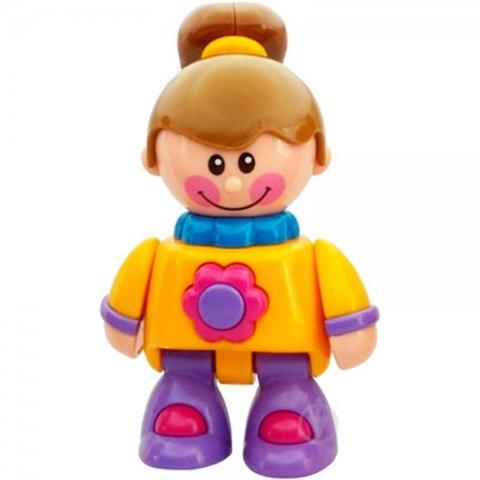 اسباب بازی آدمک تولو مدل دخترک لباس زرد کد 89582