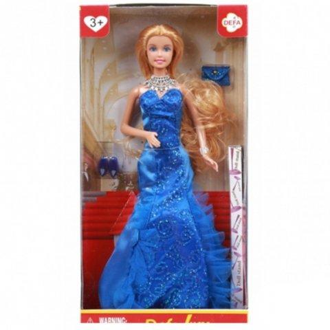 عروسک باربی دفا با لباس شب رنگ آبی کد 8270