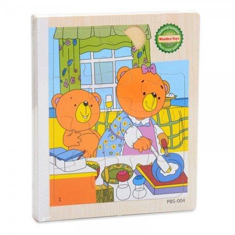 پازل کتابی چوبی مدل خرس کوچولو کد PBS-004