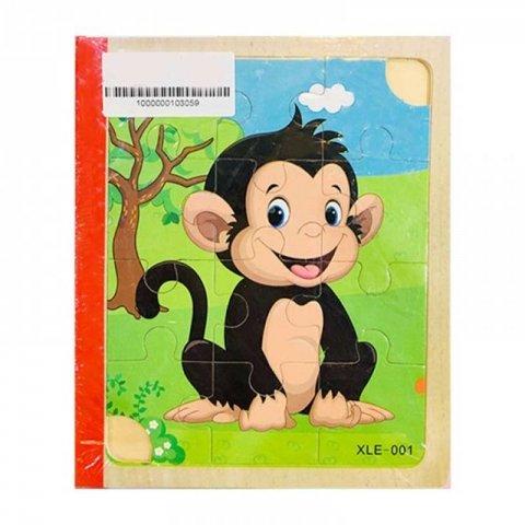 پازل کتابی چوبی مدل حیوانات وحشی کد XLE-001