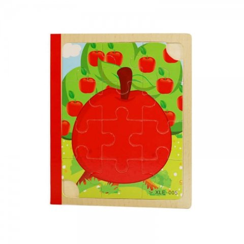 پازل کتابی چوبی مدل میوه جات کد XLE-005