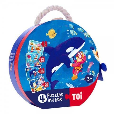 پازل با جعبه مدل دلفین کد TP989