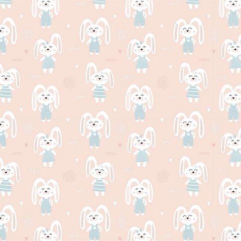 کاغذ کادو یک رو طرح خرگوش مدل 3027
