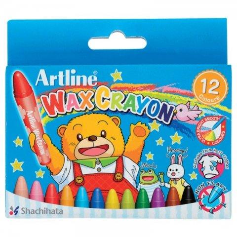 مداد شمعی 12 رنگ کد ECY-WX-12S