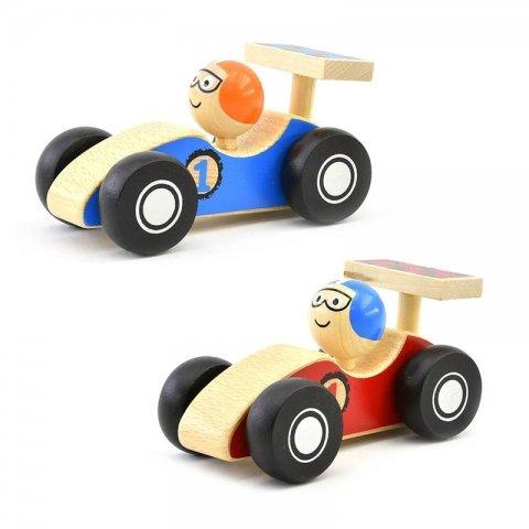 اسباب بازی ماشین مسابقه ای چوبی کد BZ-01-B
