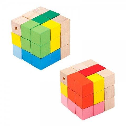 اسباب بازی مکعب هوش چوبی پیکاردو کد BZ-08-B