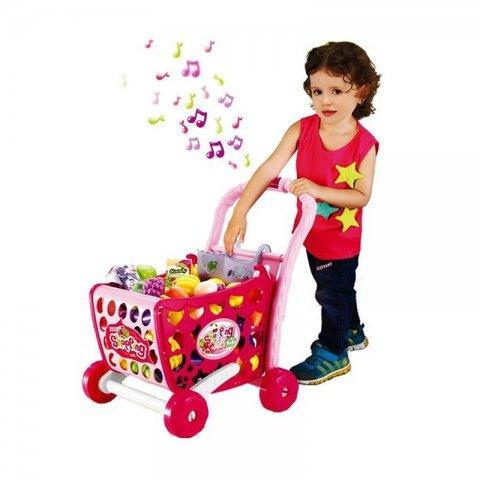 اسباب بازی سبد خرید فروشگاهی صورتی کد 008903
