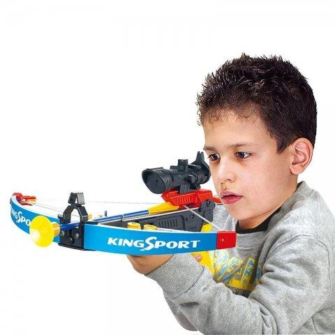 تیرکمان اسباب بازی کودک رنگ مشکی آبی مدل 35881K