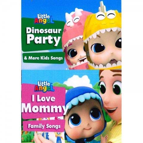 دی وی دی فرشته کوچولو little angel dinosaur party DVD