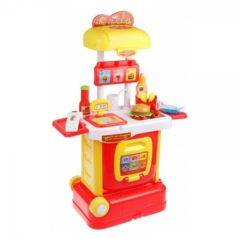 اسباب بازی همبرگر و فست فود چمدانی کد W803A