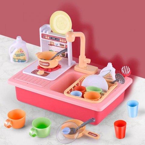 اسباب بازی سینک ظرفشویی به همراه اجاق گاز کد wy3821