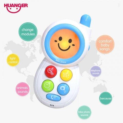 موبایل اسباب بازی موزیکال رنگ آبی کد HE0512