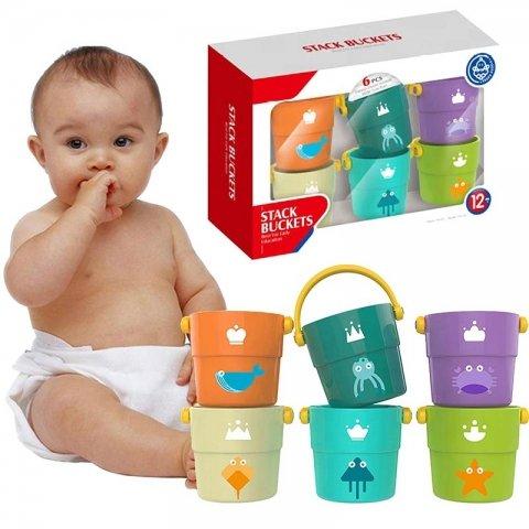 اسباب بازی سطل آب بازی و شن بازی 6 عددی کد HE0223