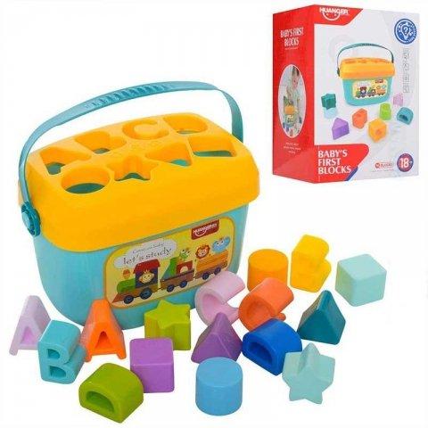 اسباب بازی بلوک آموزشی سطلی مدل اشکال و حروف کد HE0218