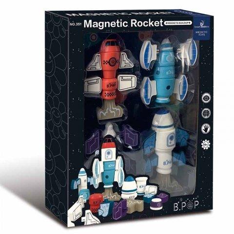 اسباب بازی مگنتی طرح موشک فضایی 33 تکه کد 351