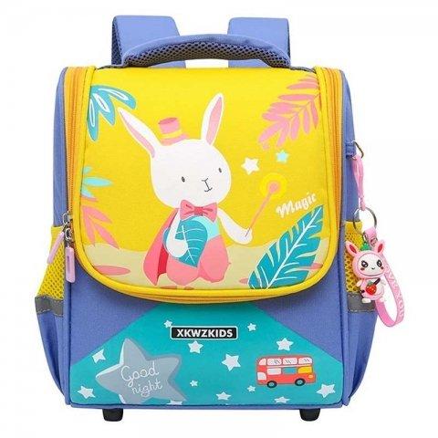 کوله پشتی کودک بنفش زرد طرح خرگوش کد 3913727