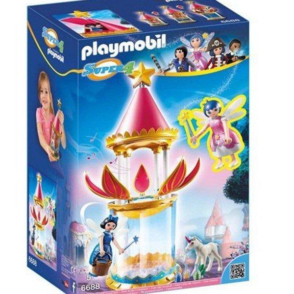 قصر پلی موبیل مدل PLAYMOBIL Musical Flower Tower with Twinkle 6688