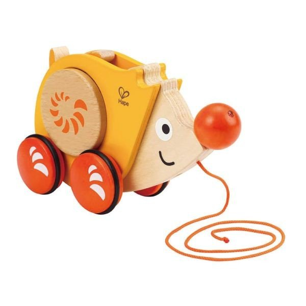جوجه تیغی نخ کش چوبی کودک WALK-A-LONG HEDGEHOG کد 0350