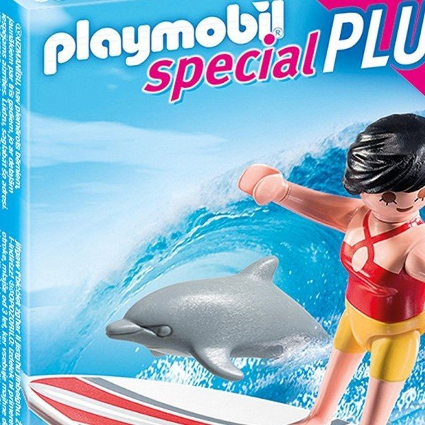 دختر موج سوار پلی موبيل مدل Surfer with Surf Board 5372