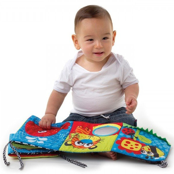 آویز تخت کتابچه پارچه ای کودک  playgro مدل 183444