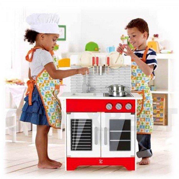 آشپزخانه چوبی کودکCity Café Play Kitchen hape کد 3144