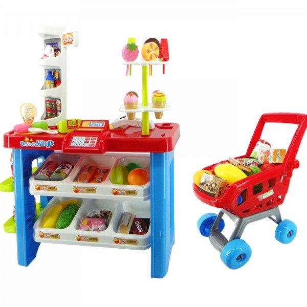 سوپرمارکت کودک  با سبد خرید مدل 66822