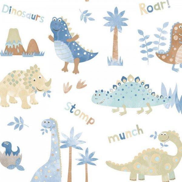 کاغذ دیواری انگلیسی اتاق کودک - تاینی تاتز  G45127 tiny tots