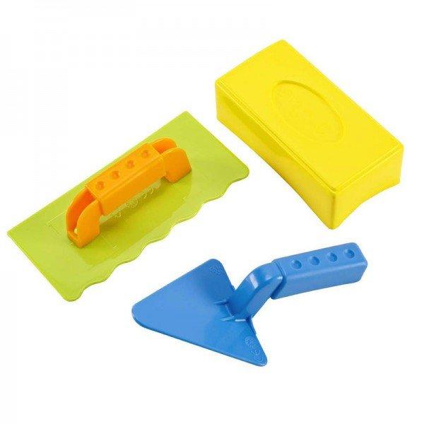 قالب شن بازی بنایی مدل master bricklayer set hape 4010