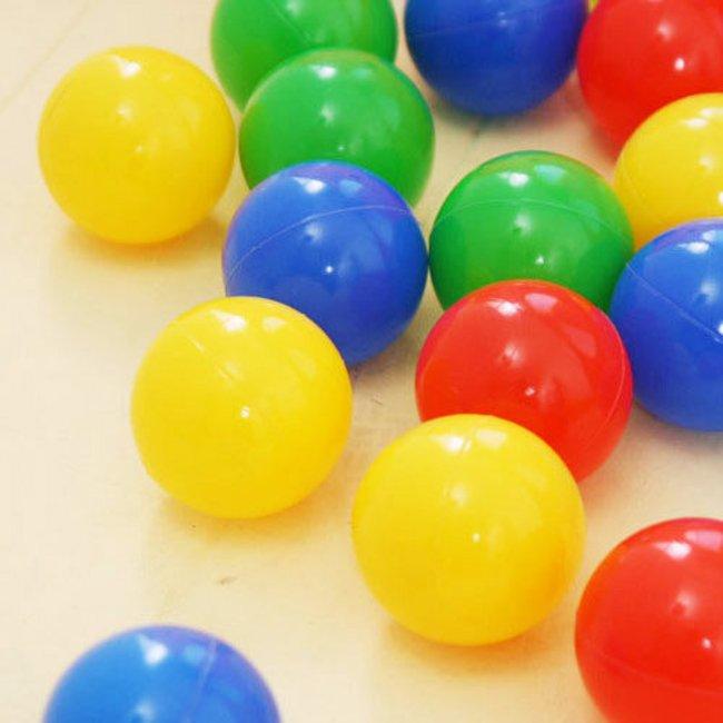 توپ رنگی کودک بسته 100تایی